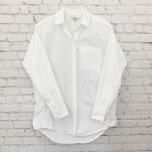Madewell - White Oversized Button Down Shirt, M